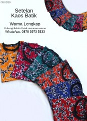 Setelan Kaos Batik Cap Pendek