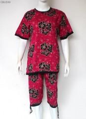Setelan Kaos Batik Cap Pendek Tali
