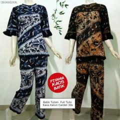 Setelan Panjang Kaos Batik Pantura Full Tulis