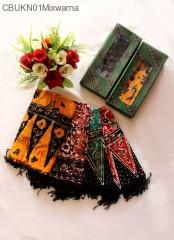 Syal Batik Cap Warna
