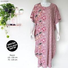 Daster Kelelawar Batik Bunga Kombinasi Colet Cerah