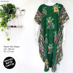 Daster Kelelawar Batik Bunga Kombinasi Colet Manis