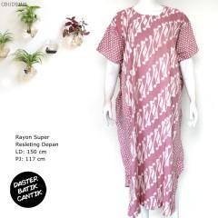 Daster Kelelawar Batik Colet Parang Polka Soft
