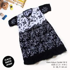 Dress Anak Daster Kaos Batik Tuban Size 2 (3-4 th)
