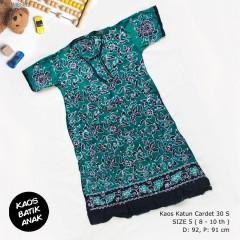 Dress Anak Daster Kaos Batik Tuban Size 5 (8-10 th)