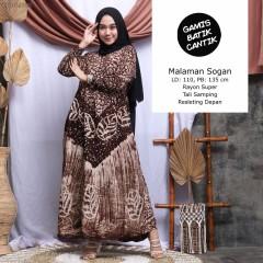 Gamis Rayon Super Batik Cap Batangan