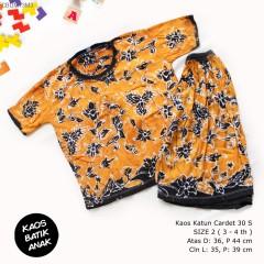 Kaos Setelan Celana Pendek Batik Anak Size 2