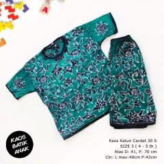 Kaos Setelan Celana Pendek Batik Anak Size 3