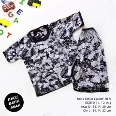 Kaos Setelan Celana Pendek Batik Anak Size 0