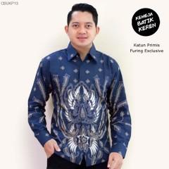 Kemeja Batik Panjang Furing Halus Sragenan Peksi Biru