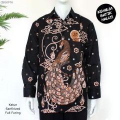 Kemeja Batik Panjang Furing Halus Sanforized Merak Mendung
