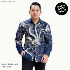 Kemeja Batik Panjang Furing Halus Peksi Biru