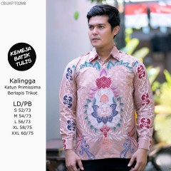 Kemeja Batik Tulis Katun Primissima Trikot Lengan Panjang