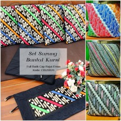Sarung Bantal Kursi Batik Cap Colet Emas