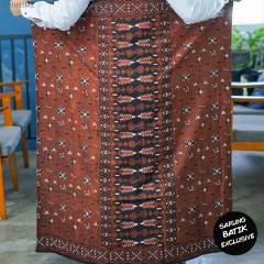 Sarung Batik Cap Batangan Kombinasi Tulis