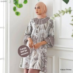 Tunik Dres Motif Ceplok Bintang Coklat