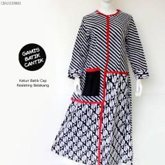 Gamis Batik Cap Kombinasi Cantik