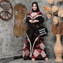 Gamis Batik Rayon Super Cantik Warna