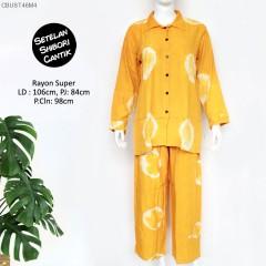 Setelan Celana Panjang Shibori Ring Warna