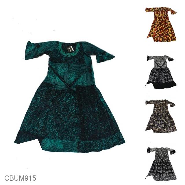 Baju Batik Anak Gamis Pekalongan Motif Perca Kotemporer