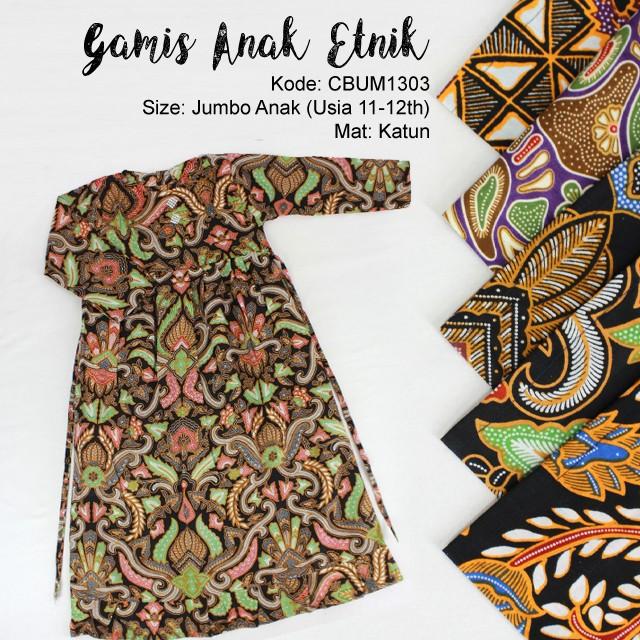 Baju Batik Anak Gamis Abstrak Jumbo Gamis Murah