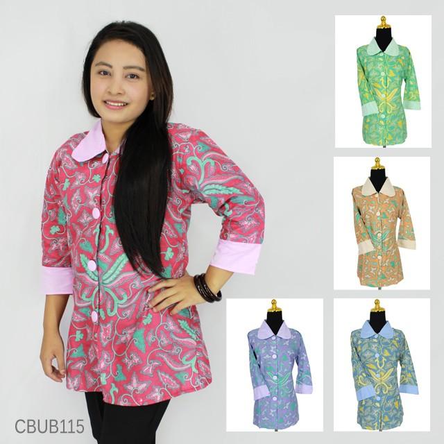 Baju Batik Blus Tanggung Katun Pisang Bali Blus Lengan