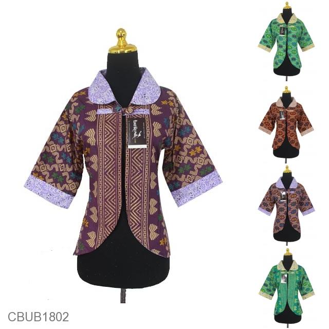 Baju Batik Bolero Bolak-Balik Motif Songket Kombinasi Bunga aa154346e1