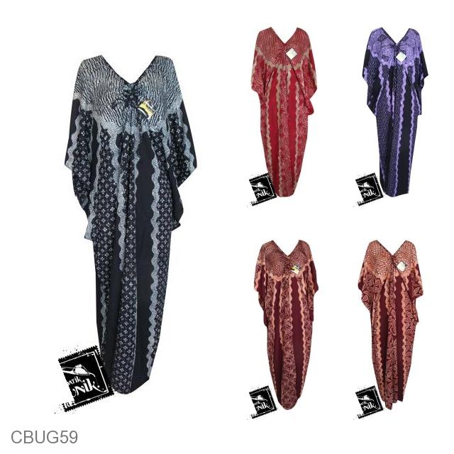 Baju Batik Gamis Kelelawar Motif Tumpal Tirta Gamis