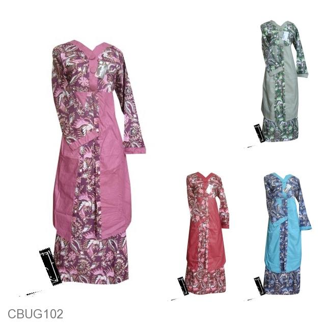 Baju Batik Gamis Motif Batik Pelikan Melayu Gamis Batik
