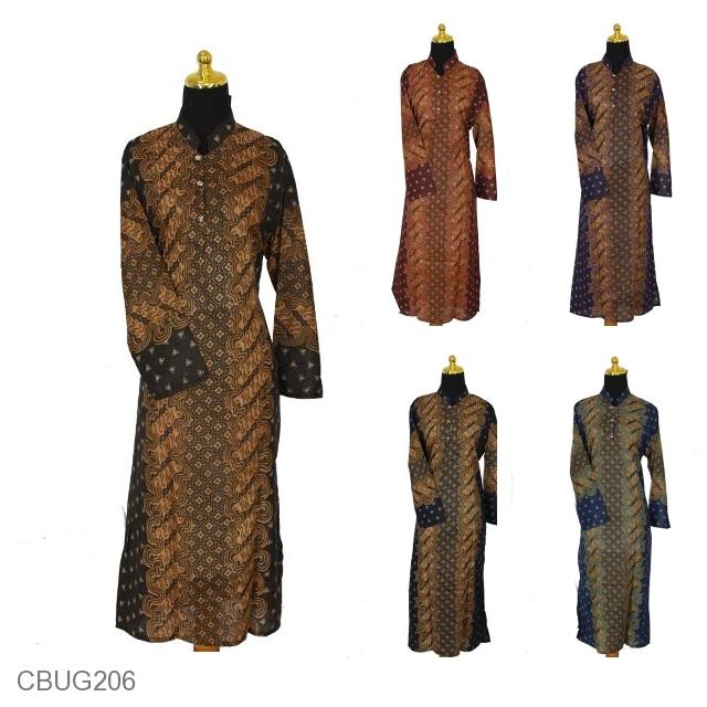 Baju Batik Gamis Katun Motif Parang Pakan Ulo Daster