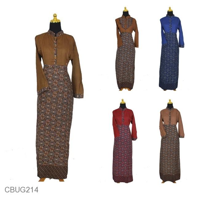 Baju Batik Gamis Motif Kotak Kembang Ganesh Gamis Batik