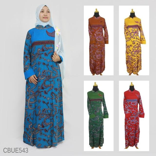 Baju Batik Gamis Motif Regolan Batang Gamis Batik Murah