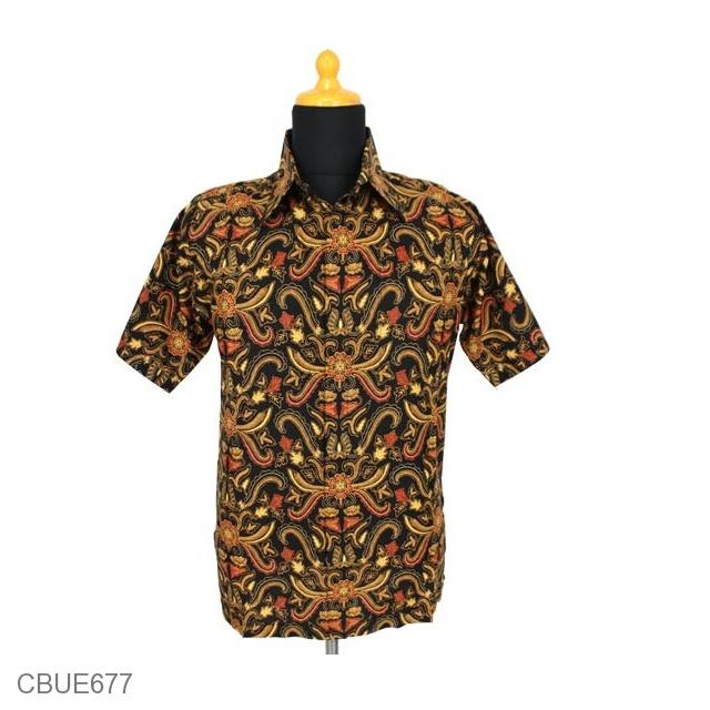 Baju Batik Kemeja Motif Pisang Bali Kemeja Lengan Pendek