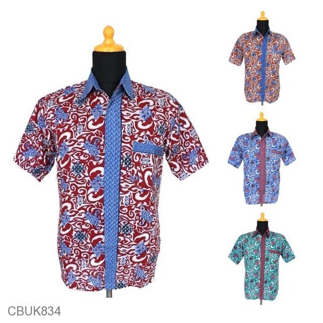Baju Batik Kemeja Motif Cirebon Kemeja Lengan Pendek