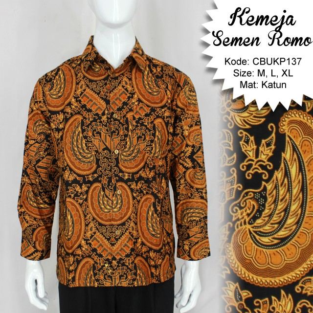 Batik Kemeja Panjang: Baju Batik Kemeja Panjang Motif Semen Romo