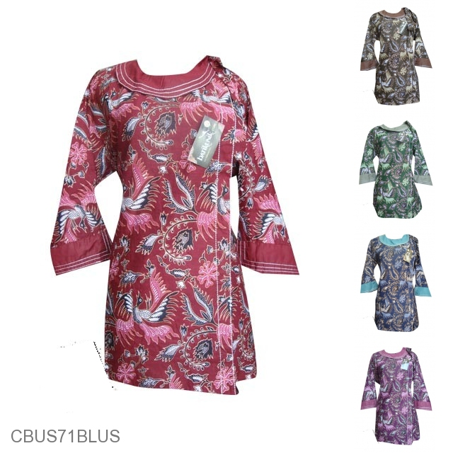 Baju Batik Sarimbit Motif Pelikan Melayu Sarimbit Blus Murah