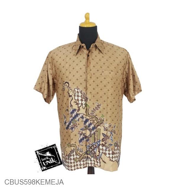 Baju Batik Sarimbit Kemeja Semi Sutra Motif Jagad Truntum