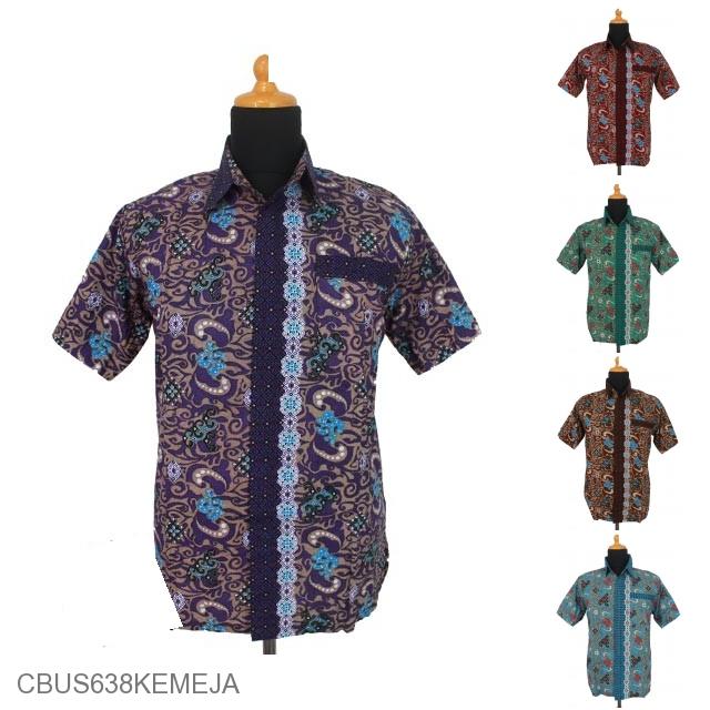 Kemeja Batik Mega Mendung Wanita: Baju Batik Sarimbit Kemeja Katun Motif Ombak Mega Mendung
