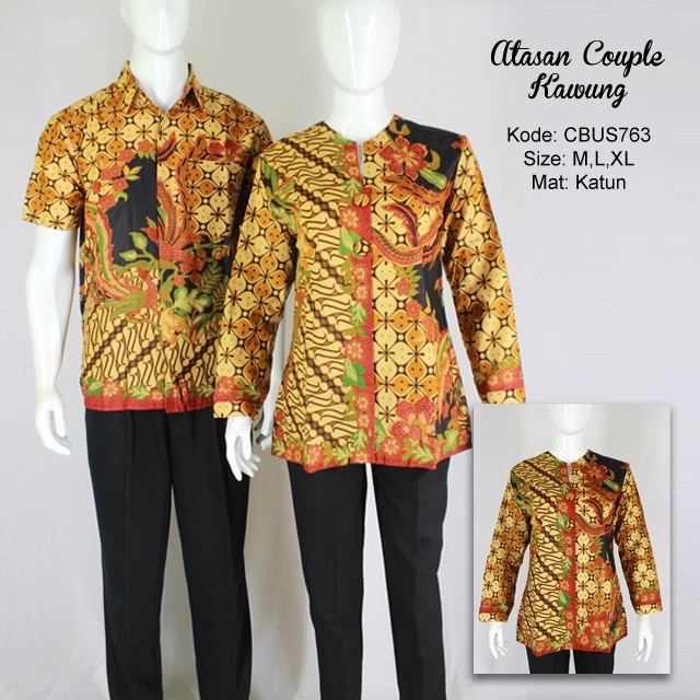 Baju Batik Sarimbit Blus Motif Kawung  e860889a17