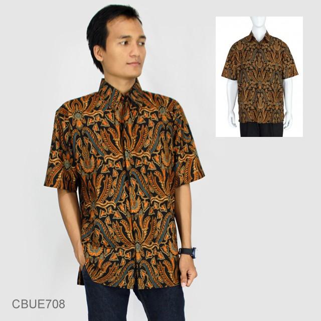 Jual Kemeja Batik Unik: Kemeja Batik Baturaden Motif Pisang Bali