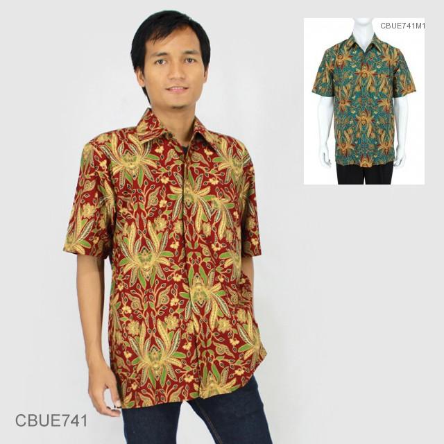 Jual Kemeja Batik Unik: Kemeja Batik Baturaden Katun Primis Motif Jokowi Warna
