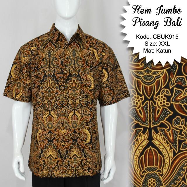 Kemeja Batik Wanita Jumbo: Kemeja Batik Jumbo Motif Pisang Bali