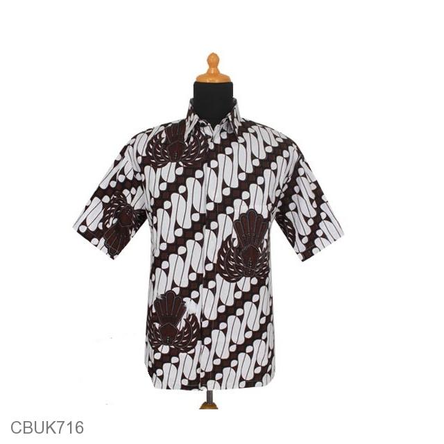Jual Kemeja Batik Unik: Kemeja Batik Katun Motif Parang Gurdo