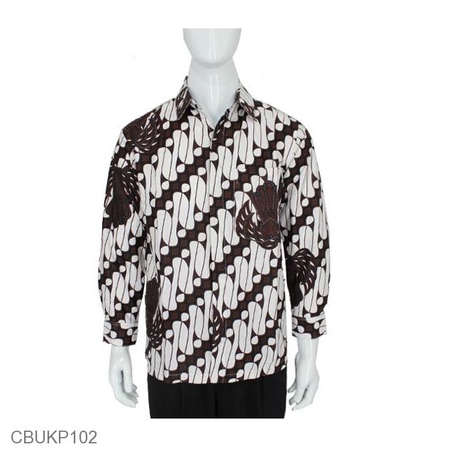 Batik Kemeja Panjang: Kemeja Batik Panjang Motif Parang Barong Garuda