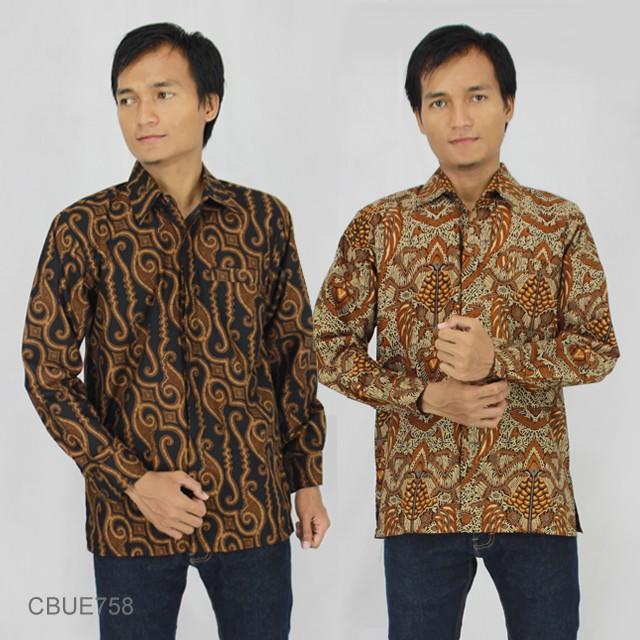 Rok Batik Dan Kemeja: Kemeja Batik Panjang Baturaden Slim Fit Motif Klasik