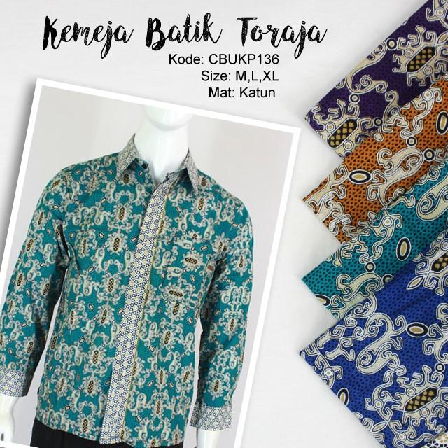 Batik Kemeja Panjang: Kemeja Batik Panjang Motif Toraja