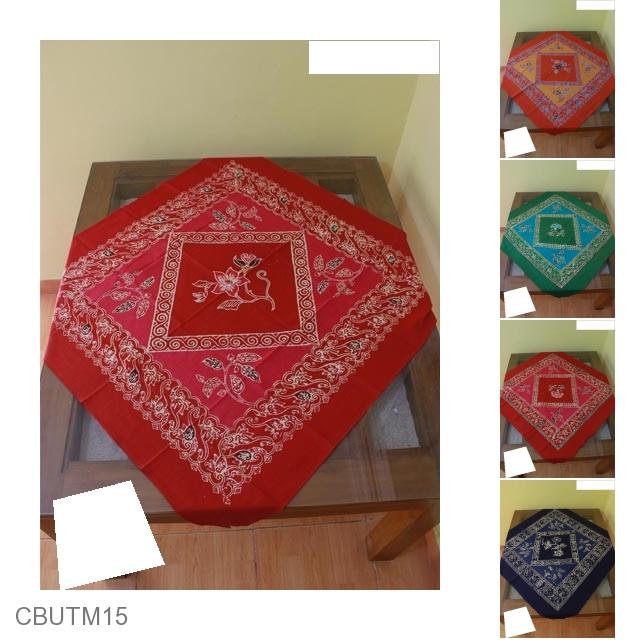 Taplak Meja Motif Tumpalan Kembang Taplak Meja Batik